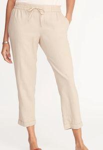 Nwt Linen Elastic Waist Pants XXL